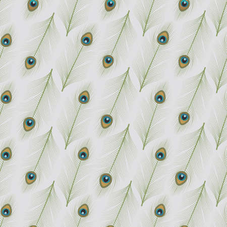 Peacock feathers ornamental seamless pattern 免版税图像 - 155279651