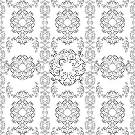 Decorative seamless pattern in vintage gothic style vector with ornamental elements 免版税图像 - 155279677