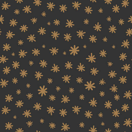 Starry sky background seamless pattern with naive little stars