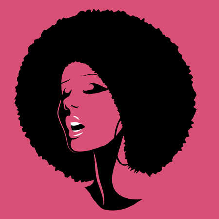 Soul Party Time. Soul, funk, jazz or disco music poster. Beautiful African American woman singing.