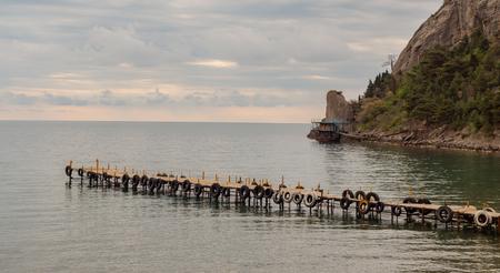Sea Pier for boad in azur bay