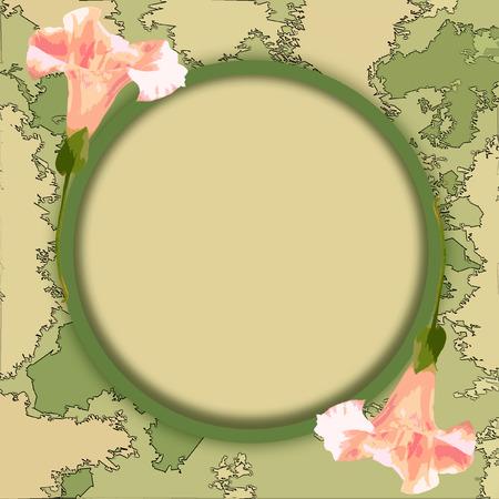 컴퓨터 그래픽: Frame for the photo with flowers  Computer graphics