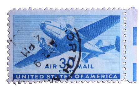 closeup image of postal stamp from united states Stock Photo - 4084853