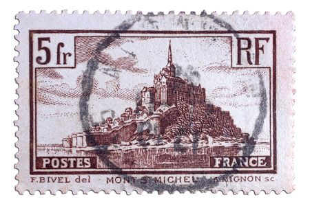 closeup image of postal stamp from france Stock Photo - 4103038