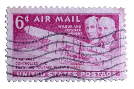 closeup image of postal stamp from united states