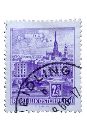 closeup image of postal stamp from austria Stock Photo - 4119502