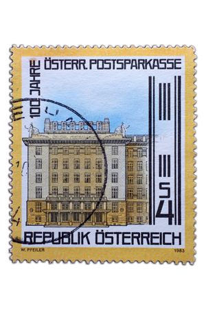 closeup image of postal stamp from austria Stock Photo - 4156575