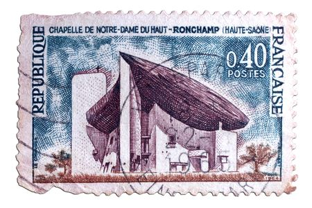 closeup image of postal stamp from france Stock Photo - 4156579