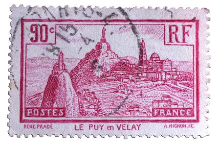 closeup image of postal stamp from france Stock Photo - 4156578