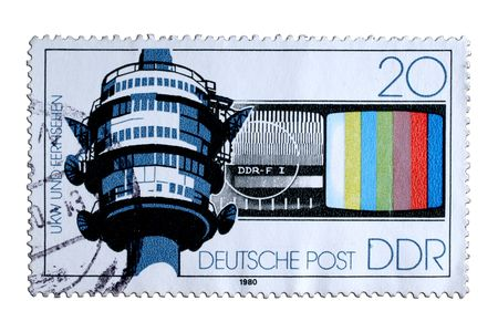 closeup image of postal stamp from former german democratik republik Stock Photo - 4156570