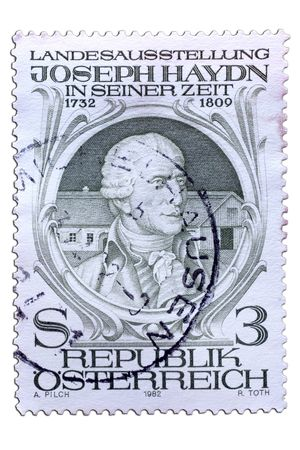 closeup image of postal stamp from austria Stock Photo - 4181787
