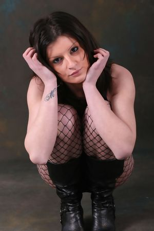 image of sexy young girl with tatoo on arm