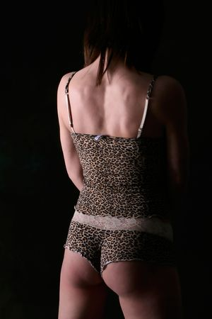 image of nice female back and lingerie Stock Photo