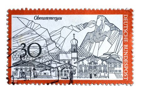 closeup image of postal stamp from germany Stock Photo - 4353468