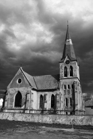 image of werry old abandoned catholic church