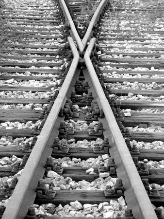 image og railway in x form with more nuts and stones