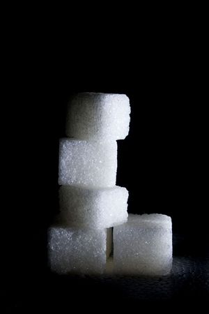 closeup image of more sugar cube like wall