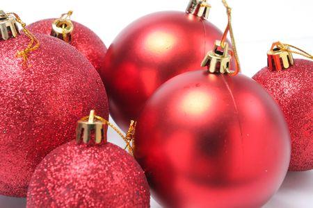 closeup image of more christmas tree balls Stock Photo