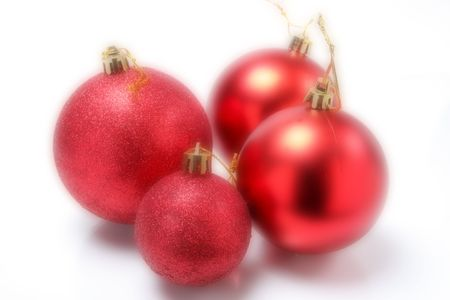 closeup image of more christmas tree balls Stock Photo