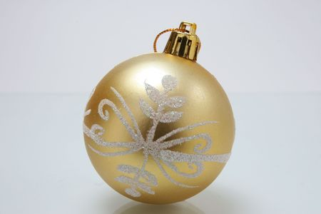 closeup image of one christmas tree ball Stock Photo