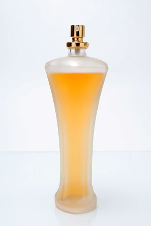 closeup imago of one nice form perfume bottle Stock Photo