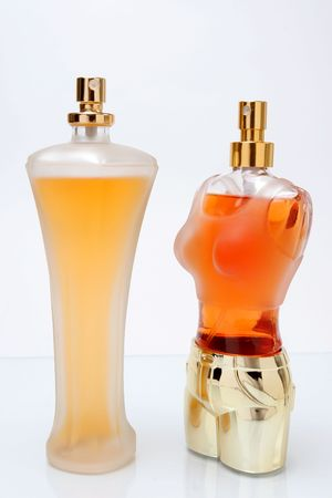 imago: closeup imago of two nice perfume bottles