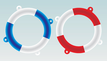 inflate: lifesaver boat - vector