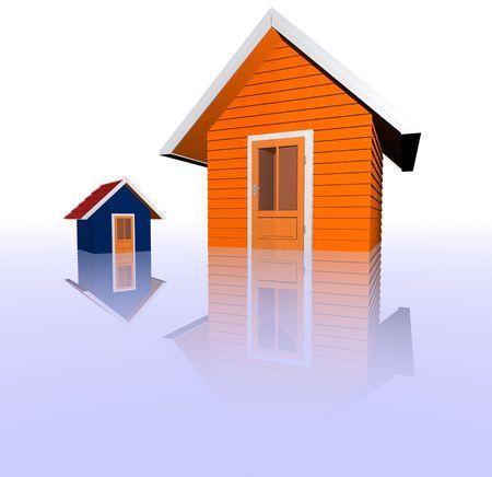 3d real estate concept photo