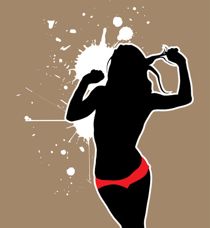hot woman: sexy woman silhouette Illustration