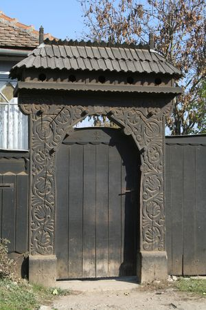 medieval blacksmith: traditional gate