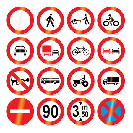 Traffic, road signs - vector format