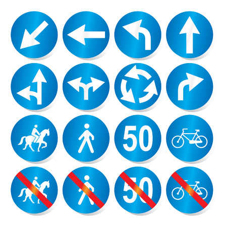 lugs: Traffic, road signs - vector format
