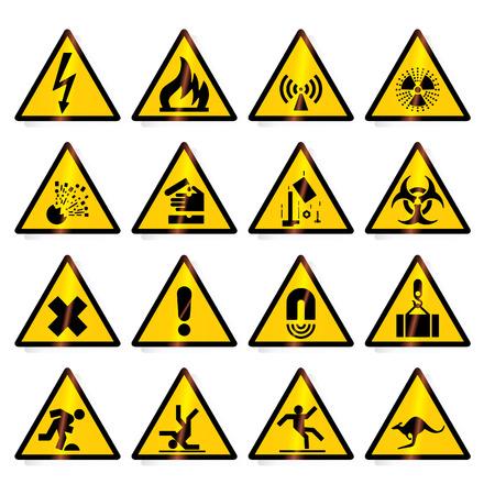 signos de precaucion: Peligro, se�ales de peligro - formato del vector Vectores