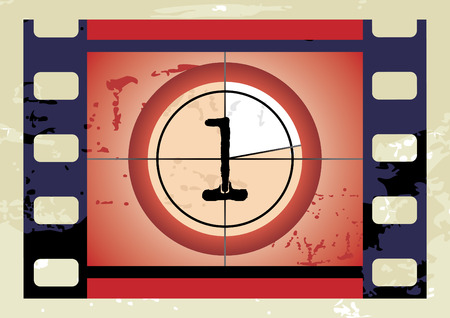 no 1: Scratched Film Countdown at No 1