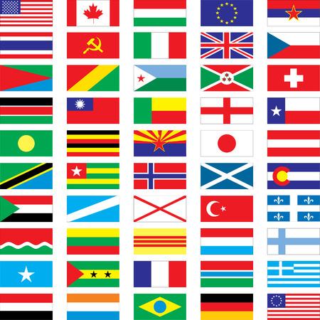50 vector flags - vector illustration