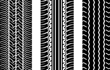 huellas de neumaticos: Vector pistas de neum�ticos (la repetici�n de arriba hacia abajo)