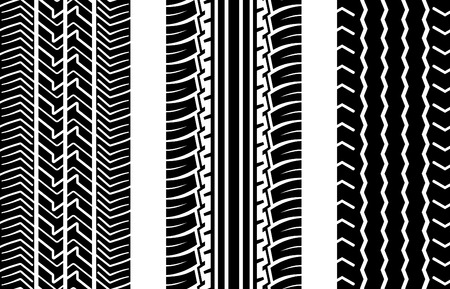 tyre tread: Vector tire tracks (repeating top to down)