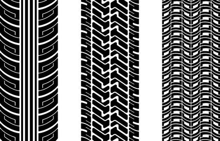 traces pneus: Vector pneus tracks (r�p�tition de haut en bas) Illustration