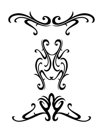 tatto: Vector tribal ornamental design elements - tatto Illustration