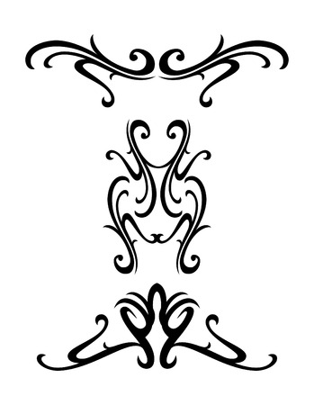 Vector tribal ornamental design elements - tatto Illustration
