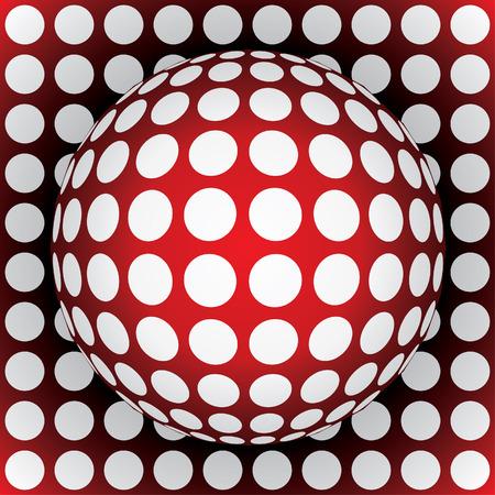 geosphere: op-art sphere - 3d vector illustration Illustration