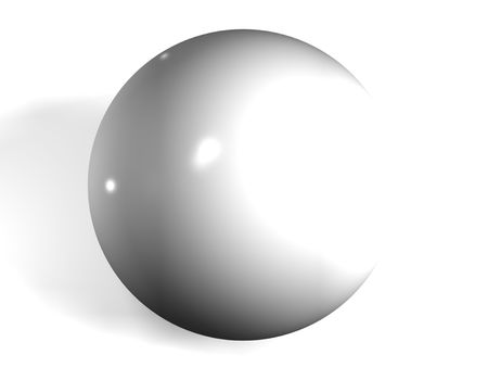 pool ball: isolated 3d white pool ball