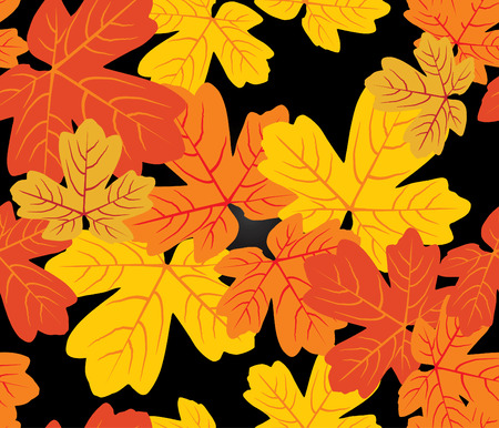 Autumn seamless pattern (repeating top to down and left to right) - vector illustration Vector
