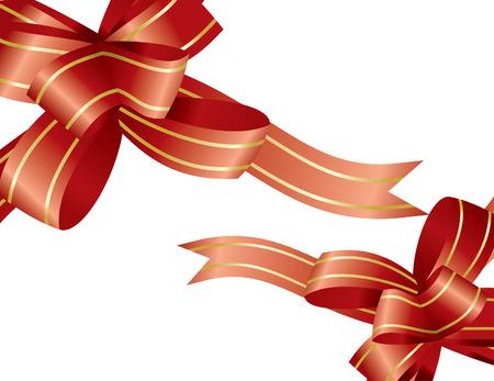 merrytime: red ribbons Illustration