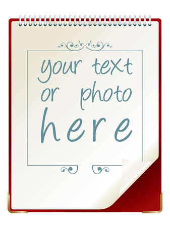 paper sheet whith empty space for text or photo Stock Vector - 2704301