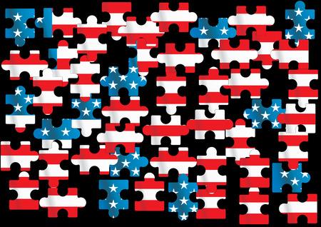 vettore di bandiera americana - illustrazione vettoriale
