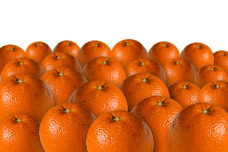 oranges isolated on white background Stock Photo - 2704287