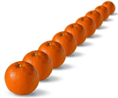 oranges isolated on white background Stock Photo - 2704278