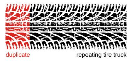 traces pneus: Traces de pneus Vector (r�p�tition de gauche � droite) Illustration