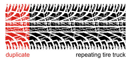 tyre tread: Vector tire tracks (repeating left to right)